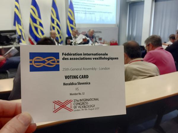 Predstavitev kandidature za organizacijo mednarodnega kongresa v Ljubljani z bodočo zastavo prireditve, ki jo bo Ljubljana gostila leta 2021.