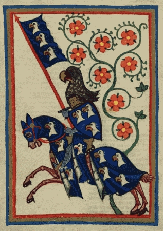 Hartmann von Aue, Codex Manesse, 1305-1340.